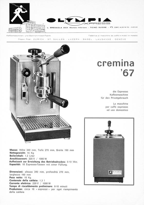 12 13 02 Cremina. 40 years of perfection. 1967 1996 2002 2008. We have every reason to celebrate: Our Cremina has been around for more than 40 years!