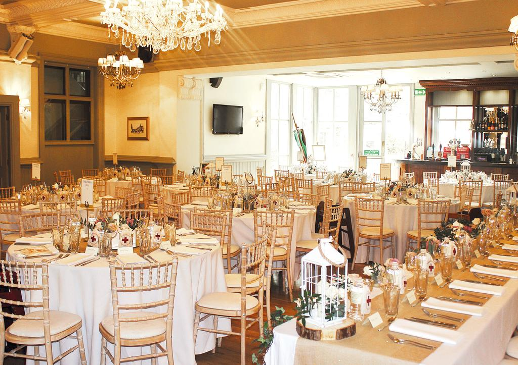 The Ceremony We have two rooms licensed for ceremonies. THE BALLROOM THE DRAWING ROOM Up to 110 guests Up to 45 guests Friday-Sunday 300.00 200.00 Weekdays 200.