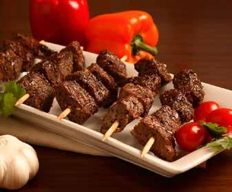 Pkg. 88pc/cs Av era ge Go od AAA 75g Steak Stix Tender, juicy, aged