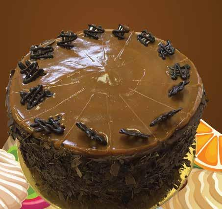 New 10 Caramel DeLeche Devils chocolate sponge with a
