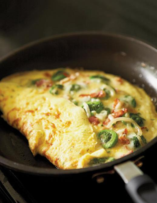 FIDDLEHEAD OMELET Submitted by Donna W. - sourced from www.ricardocuisine.