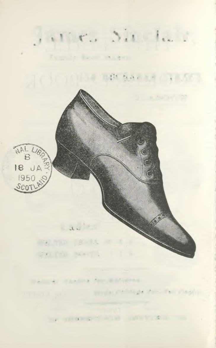 James Sinclair, Family Boot Maker, 150 BUCHANAN
