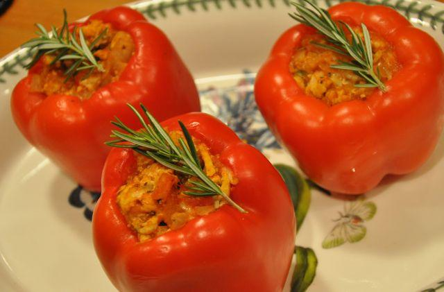 Turkey- Stuffed Bell Peppers Eating healthy does not have to be boring! These turkey- stuffed bell peppers are the perfect meal for those days when you re just sick and tired of eating healthy.