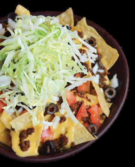 95 Tortilla Chips layered with Cheese Sauce and Taco Meat, topped with Tomatoes, Onions, Black Olives and Shredded Lettuce, served with Sour Cream and Salsa Fried Pickle Chips...$7.