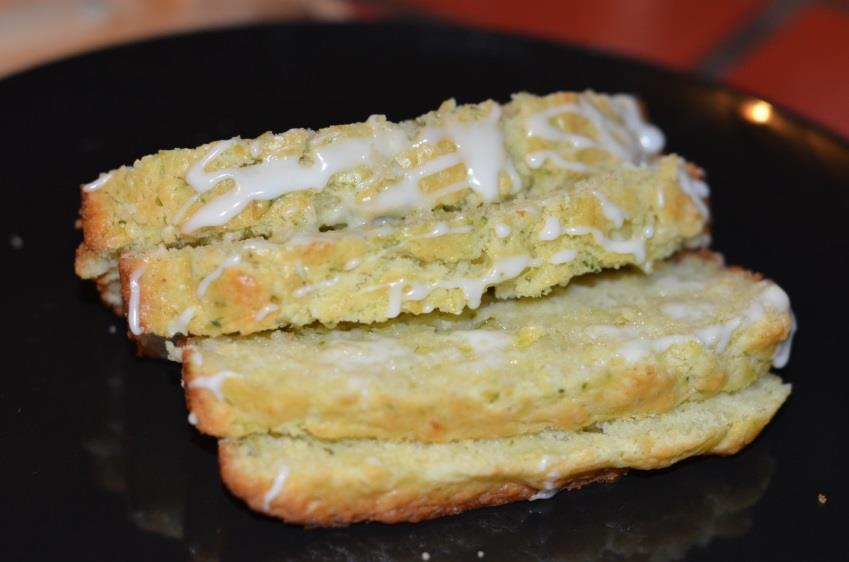 Lemon Zucchini Bread 2 cups all-purpose flour 2 tsp baking powder ½ tsp salt 2 eggs ½ cup coconut oil ½ cup granulated sugar ½ cup low fat buttermilk 2 tbsp.