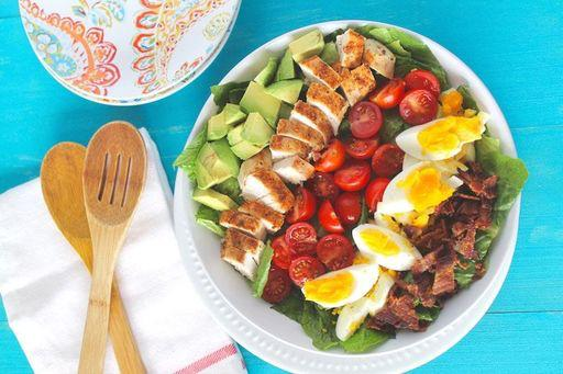 Cobb Salad Recipe Planned for Lunch on Tuesday, January 2, 2018 Source: healyeatsreal.