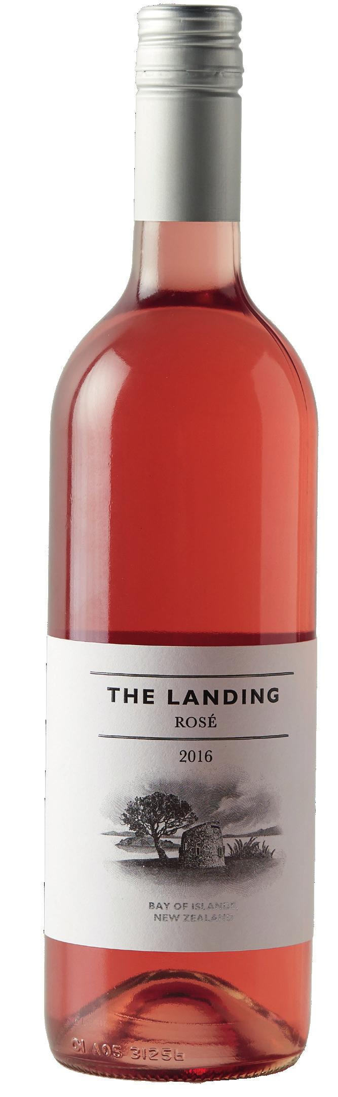 THE LANDING ROSE 2016 Grown on the coastal slopes overlooking the Bay of Islands, the 2016 Rose is an expression of fresh peach and fruit sweetness are balanced by a crisp, refreshing finish.