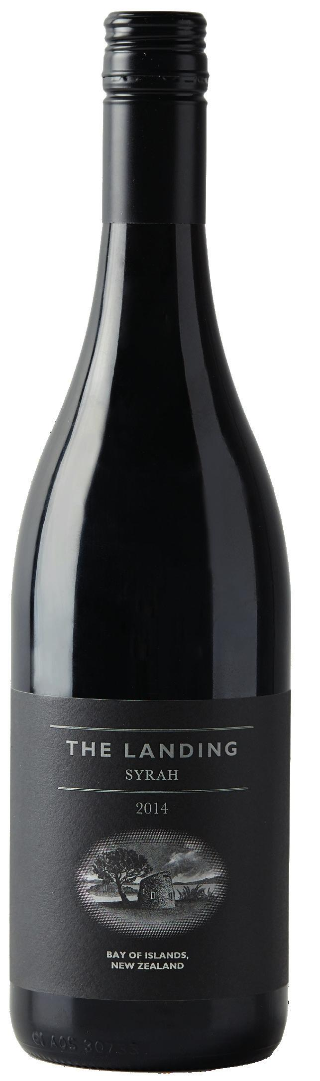 THE LANDING SYRAH 2014 Grown on the coastal slopes overlooking the Bay of Islands, the 2014 Syrah is an expression of a deep and elegantly concentrated core of black-berried fruit, spice and