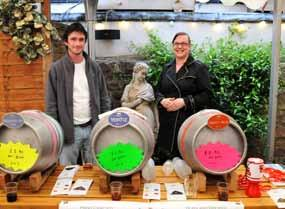 Company set up their casks in the pub s marquee for the Lansdown s inaugural festival.