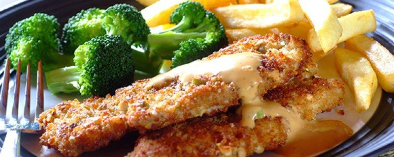 Pork Schnitzels with a Crunchy Pistachio Crust Tuesday 5th September COOK TIME 00:15:00 PREP TIME 00:10:00 SERVES 4 For a flavour burst try this combination of pork and pistachio 1.