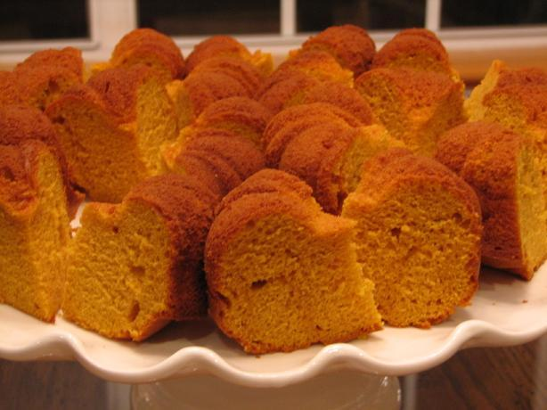 Pumpkin Bundt Cake I first found out about this pumpkin cake from my sisters and it has been a holiday favorite every since. 1 package yellow cake mix 1 package (3.