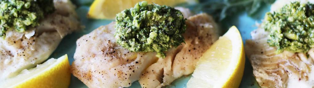 15 Minute Halibut with Dill Pesto #dinner #lunch #vegetarian #glutenfree #dairyfree #eggfree #anticandida #elimination #ketogenic #nightshadefree 10 ingredients 15 minutes 2 servings 1.
