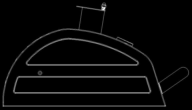 nut and (1) Spring Procedure: Attach the Smoke Stack to the Charcoal Grill Lid using (4) M6x12 bolts and (4) M6 KEPS nuts as shown as Fig. 20A and Fig. 20B.