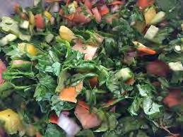 EVOO, Salt & Pepper and Grill 3 TBSP of Garlic, Chopped 3 TBSP of Ginger, Chopped 1/2 Bunch Scallions, Chopped 2 tsp Sesame Seeds, Toasted in a sautéed pan until golden brown 2 Bunches of Kale,
