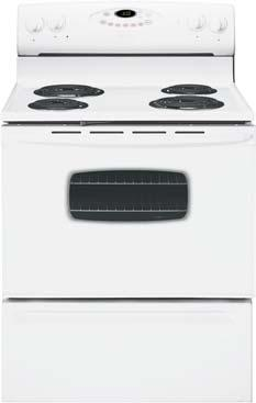 vailable September 2004) Deluxe High-Wattage Coil s No-Drip Chrome Drip Bowls Enamel-Front Oven Door Precision Touch 300 Colors: White,