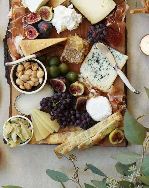 Stations PLATTERS ASSORTED CHEESE TRAY $300 per tray $6 per person Double cream brie, havarti, aged cheddar, provolone, swiss & roquefort cheese with assorted crackers, crisp grapes and assorted