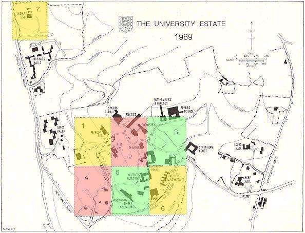 Map and Sectional Plans of the Estate The areas covered by the numbered sectional plans are shown on the general map of the University Estate below.