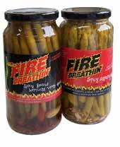 preserved vegetables All-Natural Dairy Free Vegan/Vegetarian FIRE BREATHIN SPICY SPEARS &