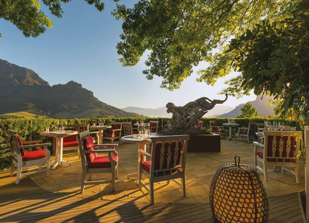 DINING AT DELAIRE GRAFF ESTATE Vibrant, seasonal cuisine The dining experience at Delaire Graff Estate is one to take time to savour.