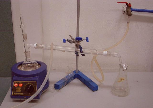 substances from a liquid mixture by selective evaporation and condensation.