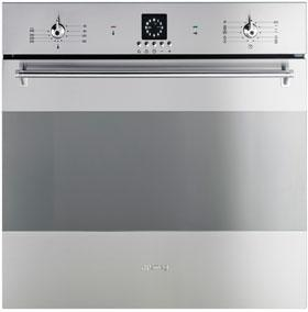 "SCP399X-8 60cm ""Classic"" Frameless Electric Multifunction Maxi Plus Pyrolitic Oven, Finger-friendly St/steel Energy rating A EAN13: 8017709130107 MAXI PLUS CAVITY 68 LITRES 10 functions Analogue LED"