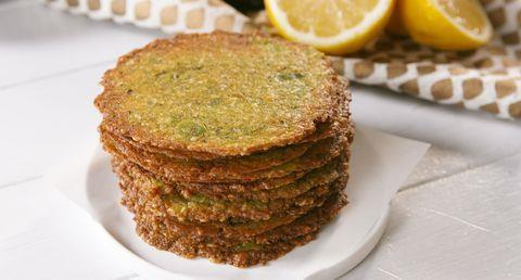 Avocado Chips Total time: 25 mins Servings: 4-1 large, ripe avocado - ¾ cup freshly grated parmesan cheese - 1 tsp. lemon juice - ½ tsp. garlic powder - ½ tsp.