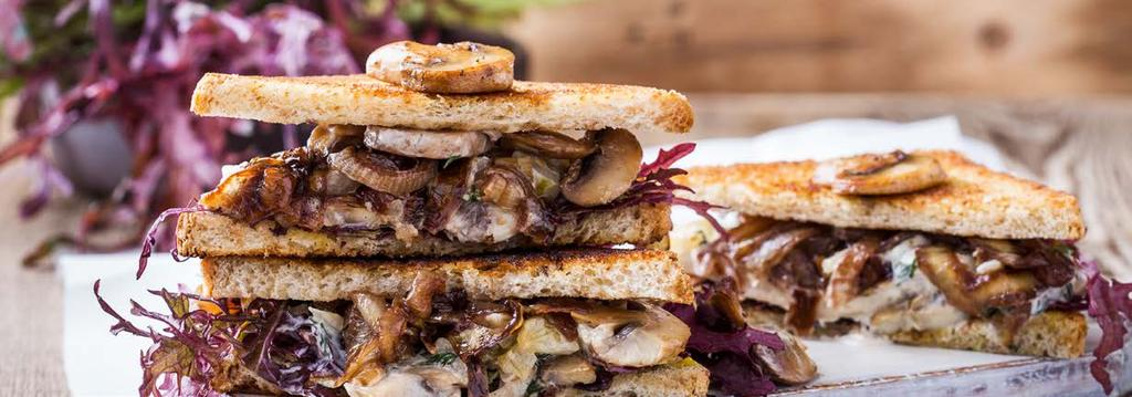VEGETARIAN LUNCH 8 Grilled Mushroom Cheesesteaks Cook Time: 20 min Serving: 4 For the mushrooms: 1 tablespoon olive oil 1 medium onion, sliced thinly 20 ounces baby bella or white button mushrooms,
