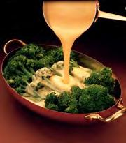Cheese Sauce Serves: 6 Serving Size: 3 tablespoons 1 tablespoon light tub margarine (zero trans fats listed on label.