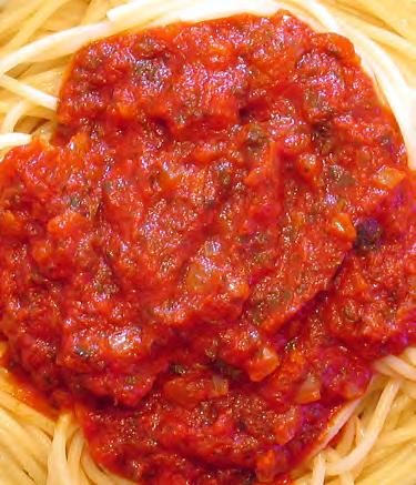 Spaghetti Sauce Serves: 12 Serving Size: 1 cup (Freeze half of the recipe for another meal) 2 tablespoons olive or canola oil 1 large onion*, chopped (about 3/4 cup) 2 cloves garlic* chopped (or ½