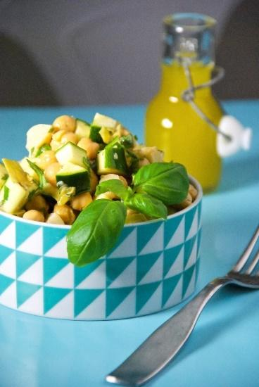 Artichoke Heart and Basil Chickpea Bowl [Serves 2] 1 cup brown rice 1 400g can of chickpeas 4 artichoke hearts, chopped large handful of basil, chopped 1 zucchini, chopped 1 handful baby spinach