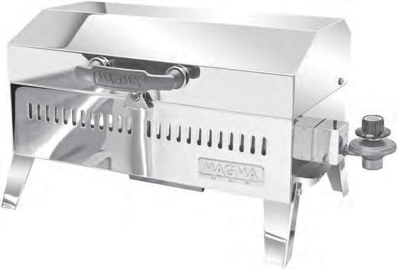 OWNER S MANUAL Cabo Adventurer Series Gas Grill Model A10-703 For questions regarding performance, assembly, operation, parts, or returns, contact the experts at MAGMA by calling (562) 627-0500 7:00