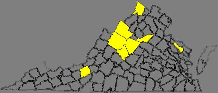 Pennsylvania and Connecticut. The distribution in Virginia through November 2012 is shown in Fig. 4.