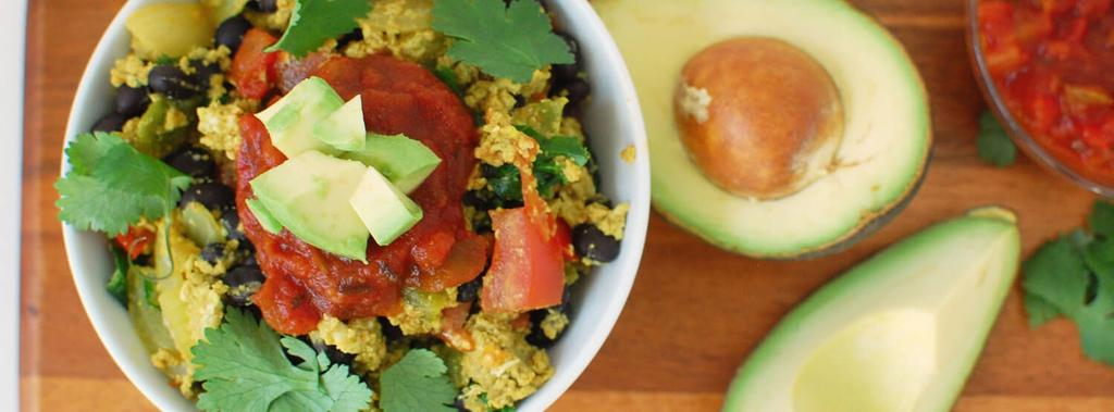 Mexican Scramble Paleo 16 ingredients 25 minutes 1 serving 1. Heat olive oil in a large skillet over medium heat. Add onion, green pepper, garlic and tomatoes.