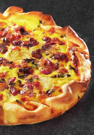 QUICHE LORRAINE 74PIES Preparation: 30 min Cooking time*: 40-50 min shallow metal pie dish (diameter approx.