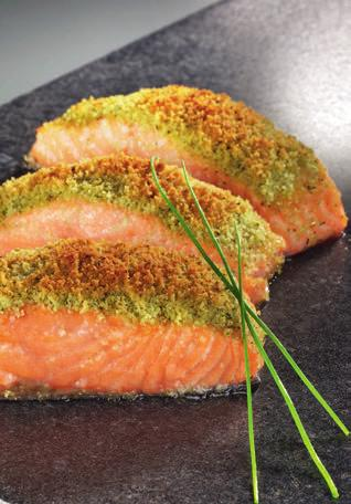 SALMON WITH HERBS Preparation: 20 min Cooking time*: 15-25 min shallow oven proof dish (approx. 26cm long) Serve the salmon with steamed potatoes to bring out the flavour of the fish.