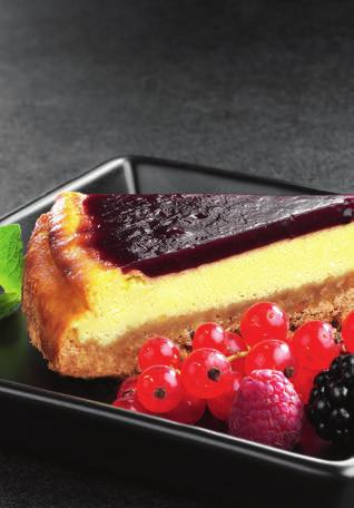 CHEESE CAKE Serves 6/8 280g of tea biscuits 100 g of butter 3 eggs 100g of sugar 280g of ricotta cheese fruits of the forest jam Crumble the biscuits into a bowl.