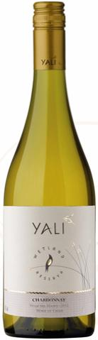 White Wines Yali 2013 Chardonnay Reserve Maipo, Chile This wine is shiny and pale yellow in color.
