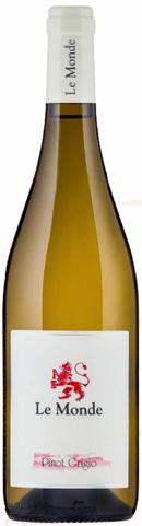 Red Wines Le Monde 2015 Pinot Grigio DOC Friuli - Grave, Italy Hints of pear, yellow plum, white flowers, citrus, toasted bread and