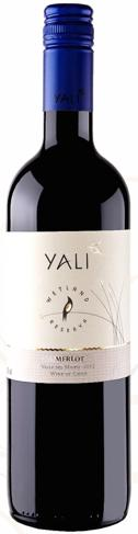 Yali 2012 Merlot Reserve Maipo, Chile Ruby red with violet hues in color.