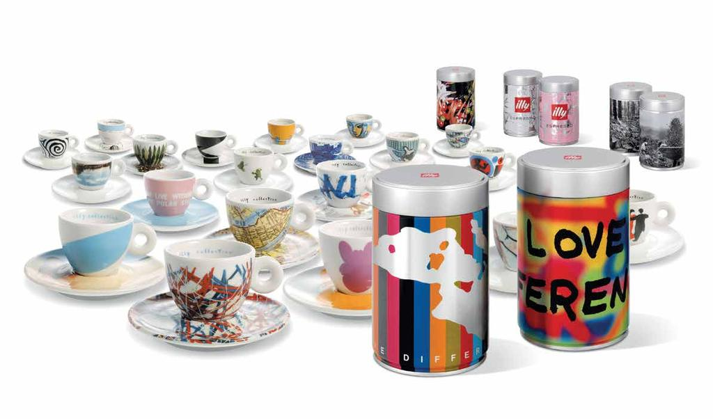 illy Art Collection A concrete example of the commitment of the company in the promotion of contemporary art is represented by the series of coffee cups designed by designers, the illy Art