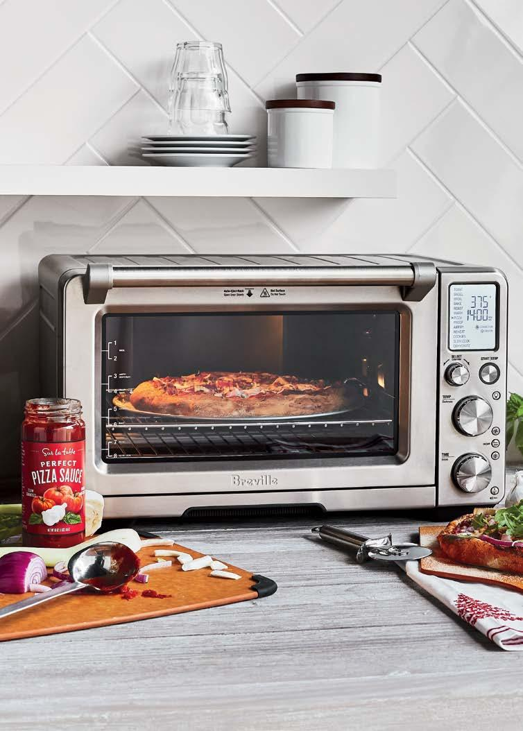 reville Smart Oven ir Perfect pizza and beyond with 30% more space than its closest relative, 13 ways to cook plus an ultra-efficient Super onvection setting, this is a gift every cook loves.
