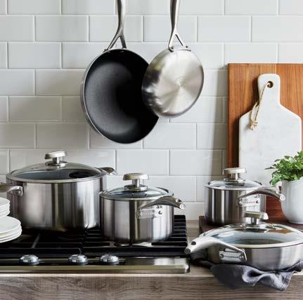 "Set Give them the ultimate nonstick set 8"" and 10¼"" skillets, 2½-quart covered sauté pan, 2- and 2¾-quart covered saucepans and 7½-quart covered Dutch oven. 4140687 Video online. Sugg. $1,824.00 $999."