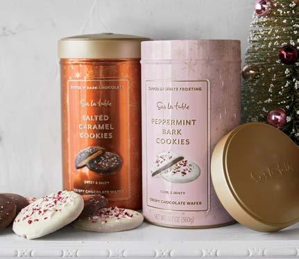 1 SOMETHING SWEET NEW ND EXLUSIVE Every bite is a little holiday celebration old-fashioned salted caramel, velvety smooth chocolate, real vanilla and peppermint, house-made cookies.