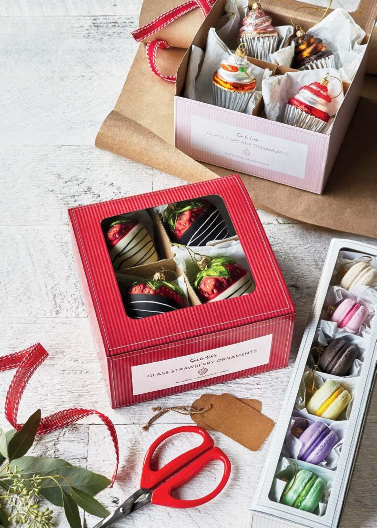 Explore over 80 colorful designs online. upcake Ornament Gift ox Set of 4 4400628 Reg. $60.00 $47.96 hocolate-overed Strawberry Ornament Gift ox Set of 4 4397774 Reg. $48.00 $38.