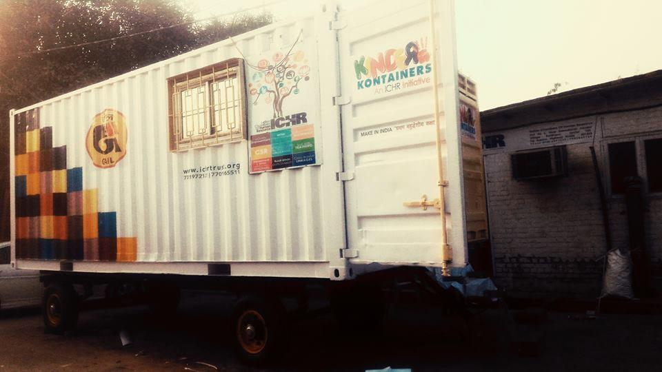 We do this by bringing forth School on Wheels - a mobile green multipurpose classroom repurposed from discarded freight containers.