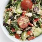 Mediterranean Quinoa Salad For the dressing: 3 tablespoons lemon juice 2 tablespoons red wine vinegar 1/2 tablespoon