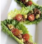 Raw Walnut Tacos 8 large romaine leaves 2 cups walnuts 1 tablespoon cumin 1 tablespoon coriander 2 tablespoons balsamic vinegar 1 tablespoon coconut aminos Dash of paprika Dash of garlic powder Dash