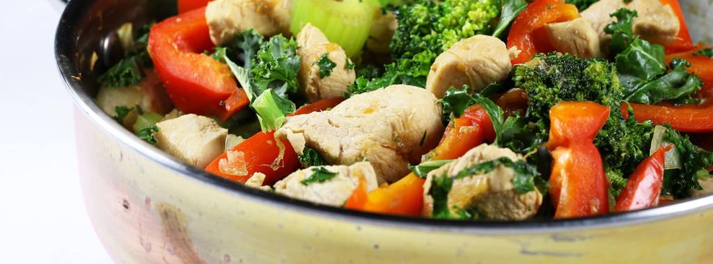 Ginger Chicken Stir Fry Low FODMAP 11 ingredients 30 minutes 2 servings 1. Mix together tamari, lime, brown sugar and ginger in a jar. Put on a lid and shake well. Set aside. 2. Add oil to a large frying pan and place over medium heat.