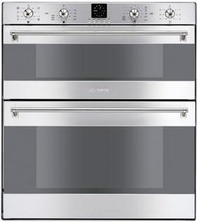 60CM Classic Electric Multifunction Double Under Counter Oven, St/steel Energy Rating AA EAN13: 8017709082192 7 functions lower main oven Analogue LED electronic clock/programmer Door and oven