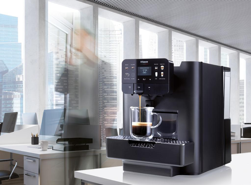 INNOVATION AND DESIGN. Area is a professional OCS capsule coffee machine which, for its compact size and rigorous but modern style, can adapt to all small and medium locations.